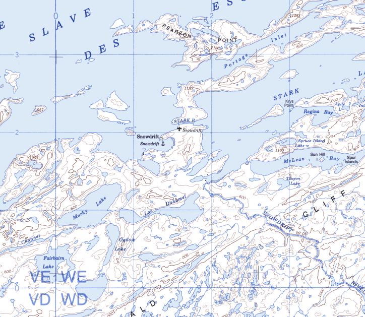free topo maps canada, NWT